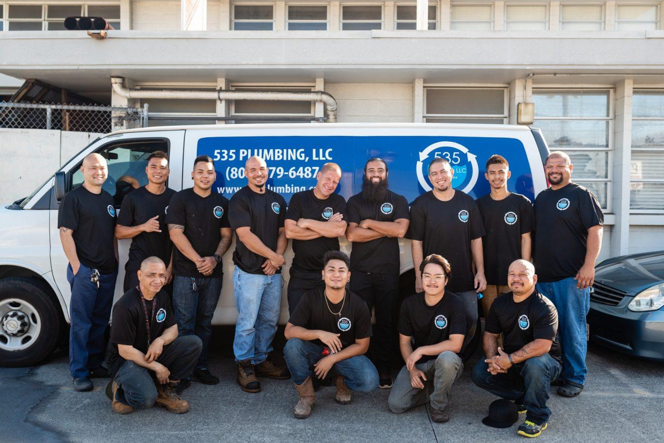 the crew of 535 Plumbing